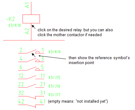 Topic: Contact Reference Symbol