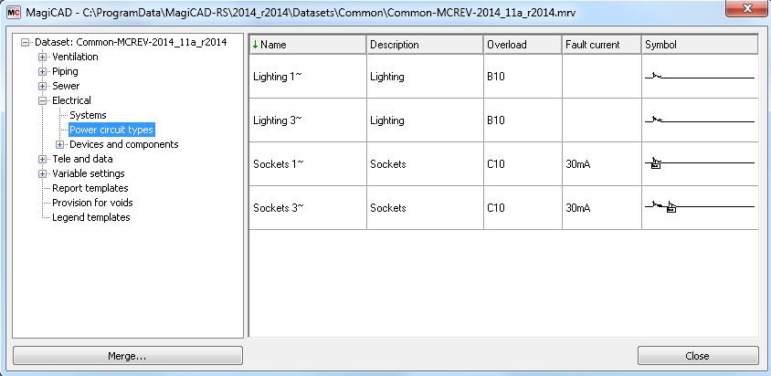 topic power circuit types rh help magicad com circuit types for hallways cricut types of mat